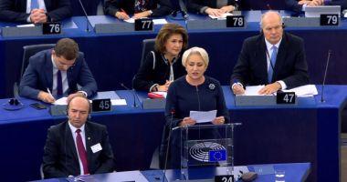 Viorica Dăncilă, în Parlamentul European:
