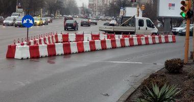 Atenție șoferi! Parapet montat pe bulevardul 1 Mai. La ce ajută