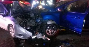 Patru victime într-un accident produs pe DN 2, de un şofer extrem de beat
