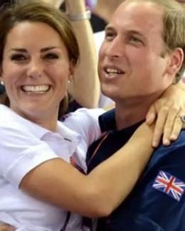 Prinţul William  şi Kate, îmbrăţişaţi  în public  la Jocurile Olimpice