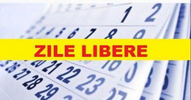 ZILE LIBERE: Când este următoarea minivacanţă şi ce libere mai sunt în 2018. Elevii nu fac ore nici pe 5 iunie