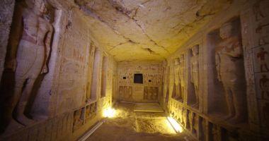 GALERIE FOTO / Primele imagini dintr-un mormânt vechi de 4.400 de ani descoperit recent în Egipt