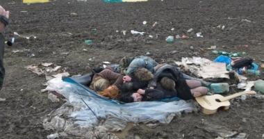 GALERIE FOTO / Un festival de muzică cunoscut s-a transformat într-un potop de noroi