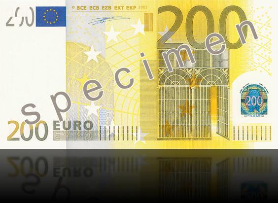 Забавная пачка гигант 200 евро - фото