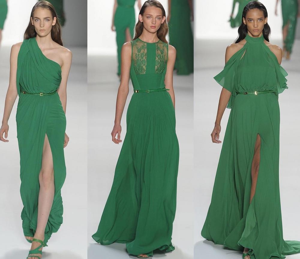 Летние платья изумрудного цвета 1