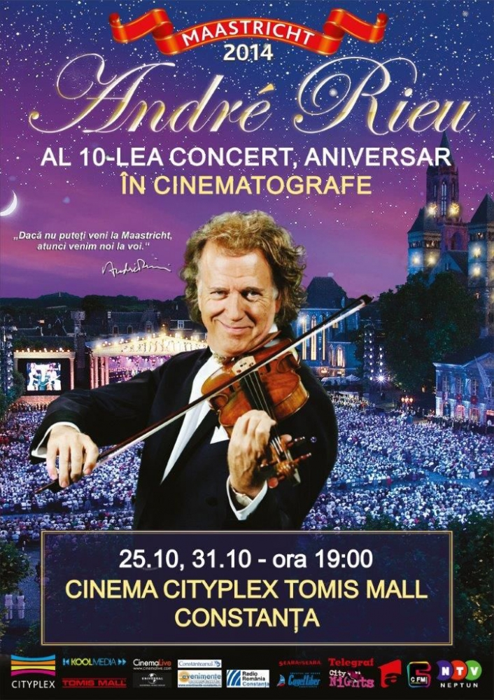 concert extraordinar andre rieu n premier la cityplex ziarul cuget liber de constanta online. Black Bedroom Furniture Sets. Home Design Ideas