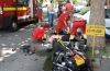 Motociclist spulberat de  o şoferiţă neatentă