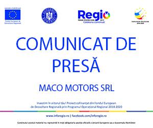 Comunicat de presa - Maco Motors